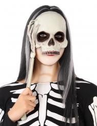 Masque sur tige squelette adulte