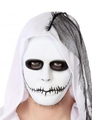 Masque blanc bouche cousue adulte