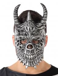 Masque dragon gris adulte