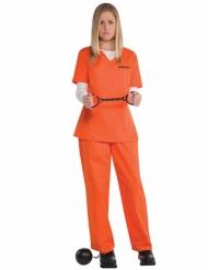 Déguisement prisonnière orange femme