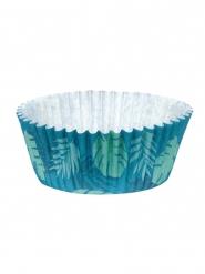50 Moule à cupcakes Flamant Tropic en papier 6,5 cm