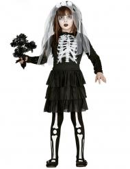 Déguisement mariée squelette fille