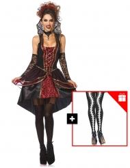 Déguisement vampire femme avec collants offerts