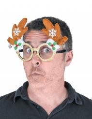 Lunettes Rudolph pailleté adulte