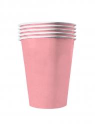 20 Gobelets américains carton recyclable rose pastel 53cl