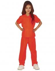 Déguisement prisonnière orange fille