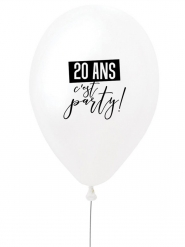 Ballon en latex 20 ans c