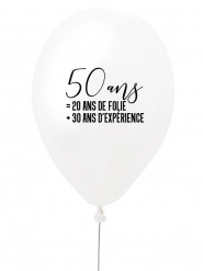 Ballon en latex 50 ans = 20 ans de folie + 30 ans d