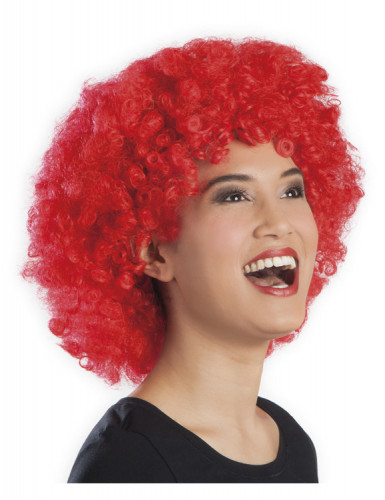 Perruque afro/ clown rouge volume adulte-1