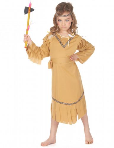 Déguisement indienne beige fille