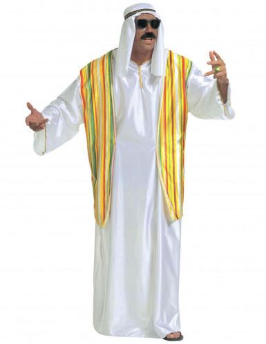Déguisement cheikh arabe coloré homme
