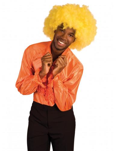 Diskohemd orange f�r Erwachsene