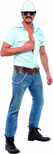 Village people�  construction worker costume for men