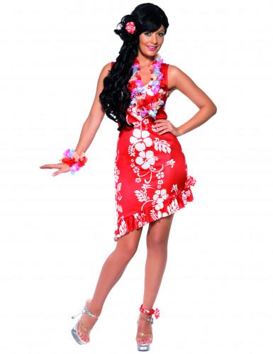 Oferta: Disfraz blanco y rojo de hawaiana para mujer