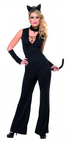 Disfraz de gata negra para mujer