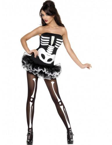 Déguisement squelette femme Halloween sexy
