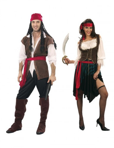Deluxe pirate costume for couples