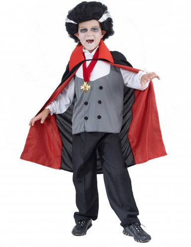 Déguisement vampire garçon gris Halloween