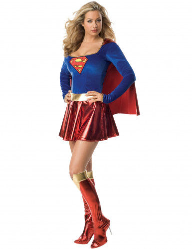 Déguisement luxe Supergirl™ femme sexy