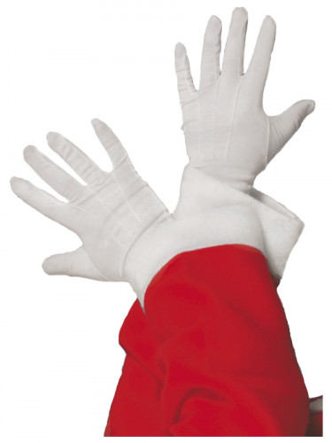 Gants blancs P�re No�l adulte