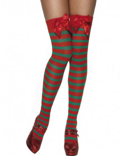 Oferta: Medias a rayas de duende de Navidad para mujer