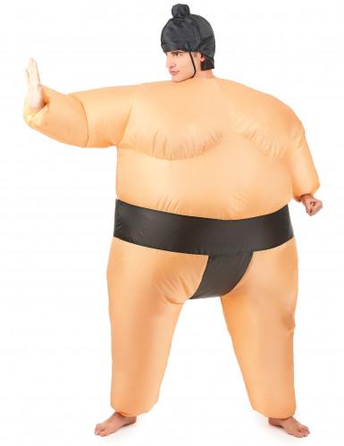 Déguisement humoristique sumo gonflable adulte-1