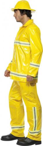 Déguisement pompier homme jaune-2