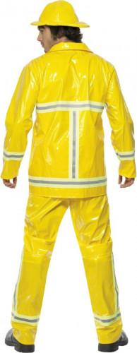 Déguisement pompier homme jaune-1