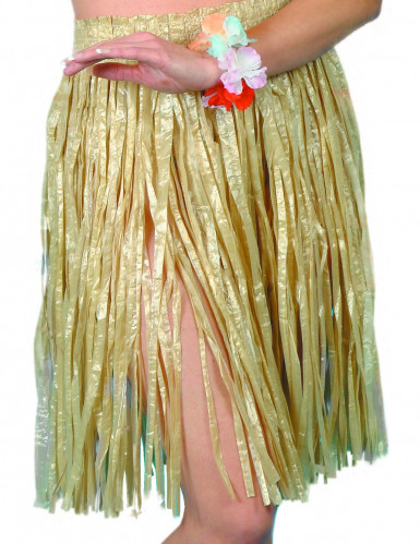 Oferta: Falda hawaiana color natural para mujer