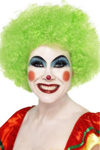 Perruque afro/ clown verte volume adulte