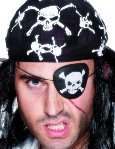Cache-oeil crâne pirate adulte