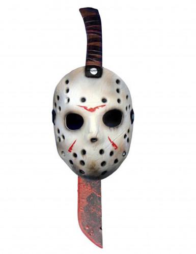 Machette et masque en plastique Jason™ Vendredi 13™