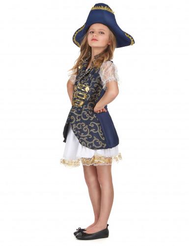 Déguisement pirate bleu foncé fille -1