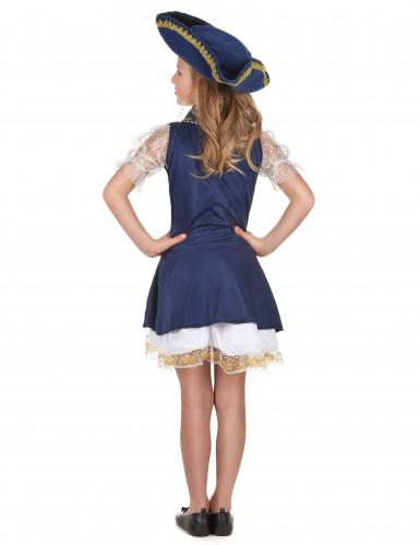 Déguisement pirate bleu foncé fille -2