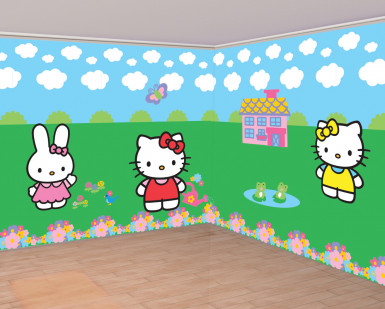 Wand-Deko Hello Kitty