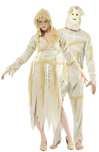 Disfraz de pareja de momias ideal para Halloween