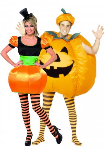 Déguisements couple citrouille Halloween