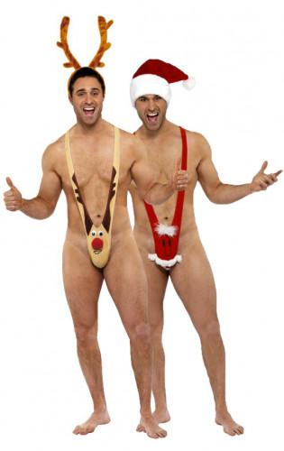 Mankinis renne et père Noël humoristiques