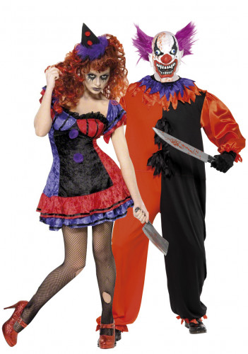 D guisements de couple clowns terrifiants halloween - Deguisement couple halloween ...