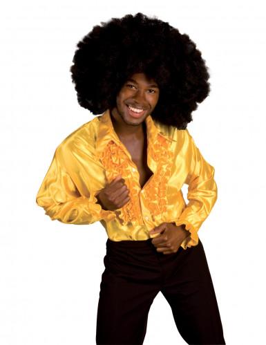 chemise disco homme jaune. Black Bedroom Furniture Sets. Home Design Ideas