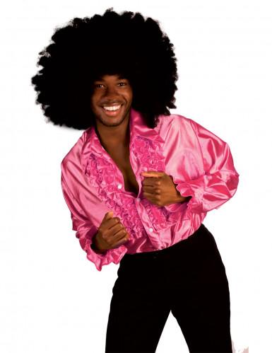 Chemise disco homme rose