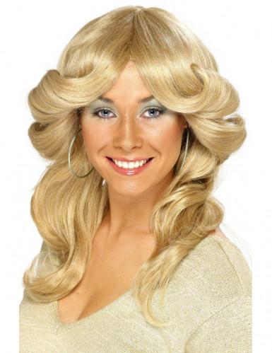 Perruque blonde ann�es 70 femme