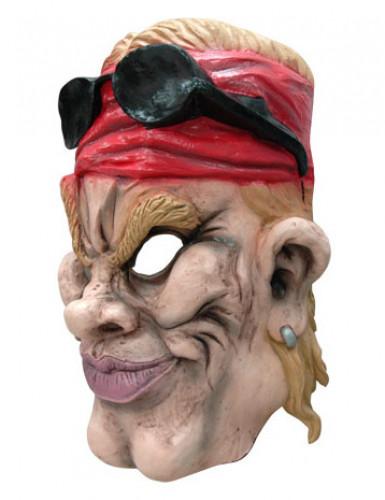 Masque caricature motard américain adulte-1