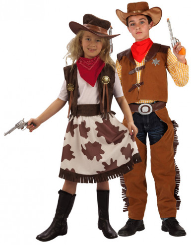 D�guisement couple cowboy & cowgirl enfants