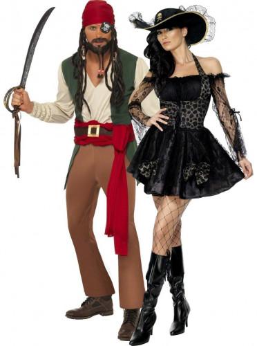 Disfraz de pareja de piratas