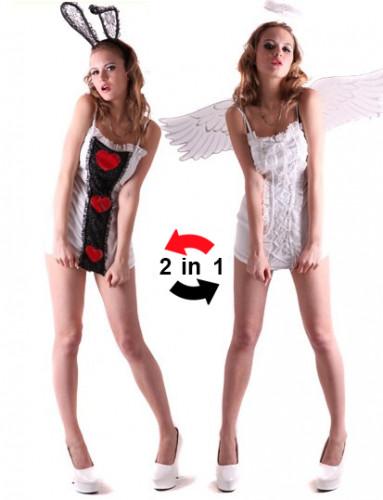 Déguisement reversible ange et lapin femme