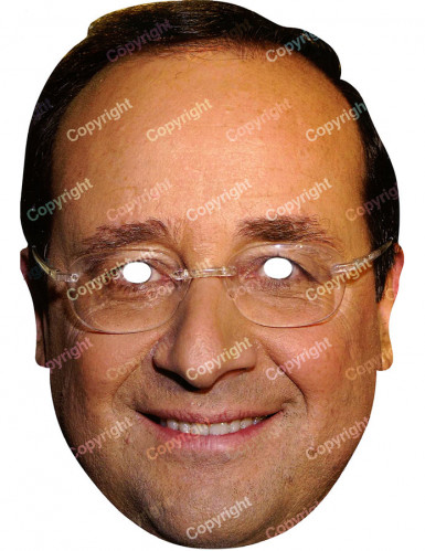 Masque Fran�ois Hollande