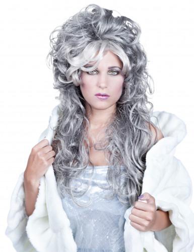 Oferta: Peluca ondulada gris