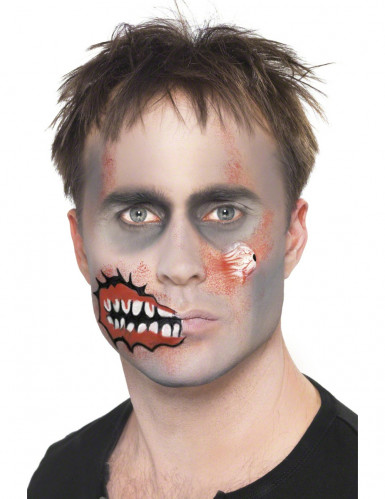 tuto maquillage zombie costume zombie accueil design et mobilier. Black Bedroom Furniture Sets. Home Design Ideas