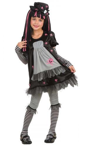 D�guisement gothique Black Dolly enfant pour fille